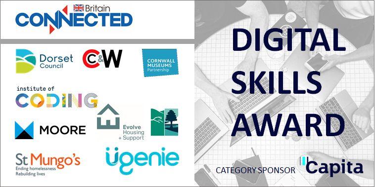 Connected Britain Digital Skills Award - Cherry & White