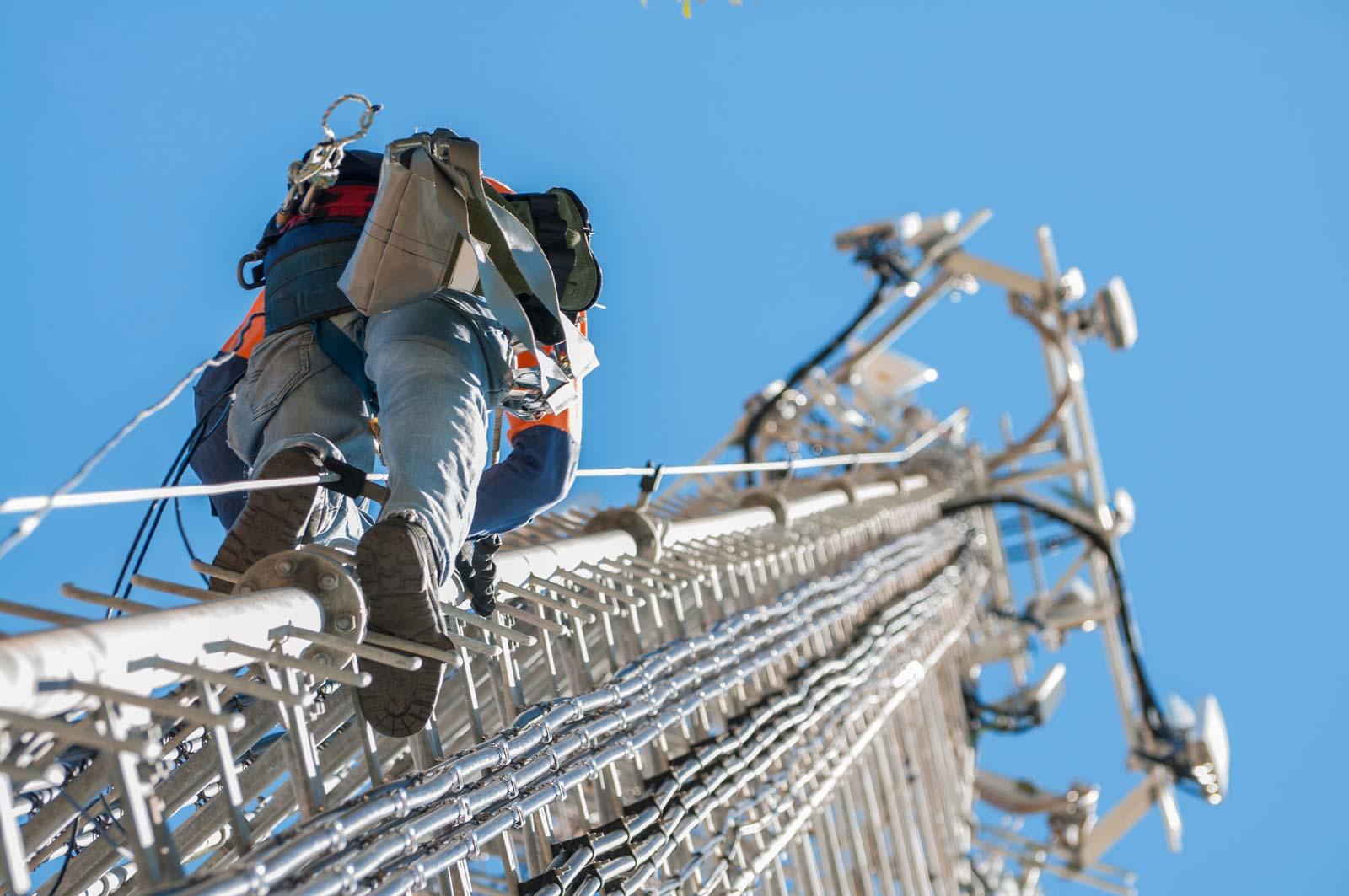 Climbing Phone Mast