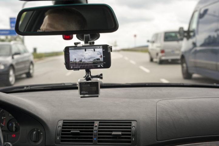 Dashcam in car